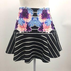 Tobi Skirt l Black and White Stripe. Sz L. *
